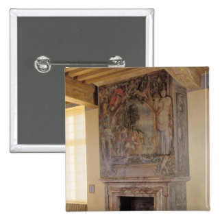 Fireplace in the Chambre du Roi Pinback Button