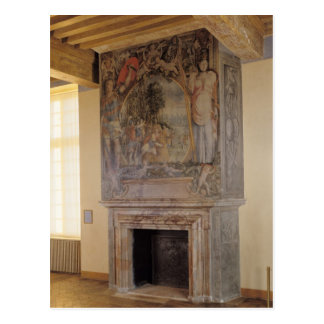 Fireplace in the Chambre du Roi Postcard