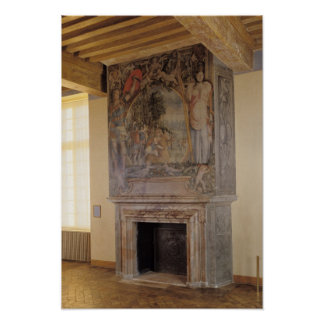 Fireplace in the Chambre du Roi Poster