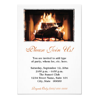 Fireplace Invitations