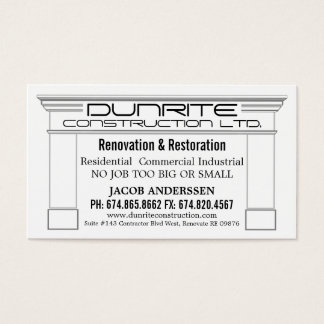Fireplace Mantle Construction Reno Company Business Card