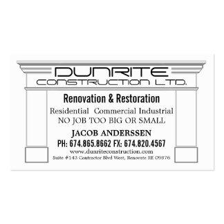 Fireplace Mantle Construction Reno Company Tarjetas De Visita
