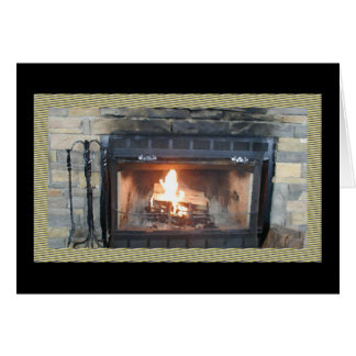 Fireplace Oil Painting Card* Card