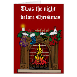 Fireplace on Christmas Eve Card