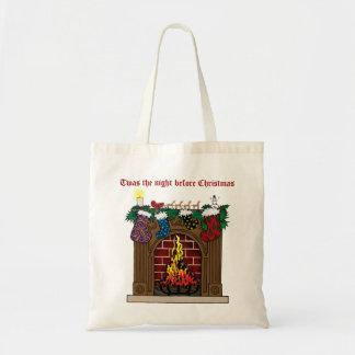 Fireplace on Christmas Eve Tote Bag