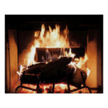 Fireplace Poster at Zazzle