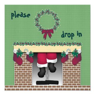 Fireplace Santa Invitation