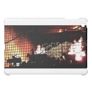 fireplace silhouette iPad mini case