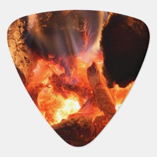 Fireplace Smoldering Embers Guitar Pick