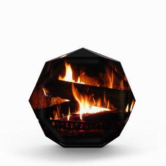 Fireplace Warm Winter Scene Photography Acrylic Award