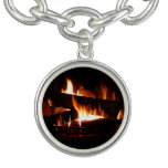 Fireplace Warm Winter Scene Photography Bracelets