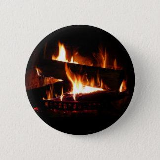 Fireplace Warm Winter Scene Photography Button