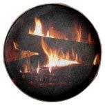 Fireplace Warm Winter Scene Photography Chocolate Dipped Oreo