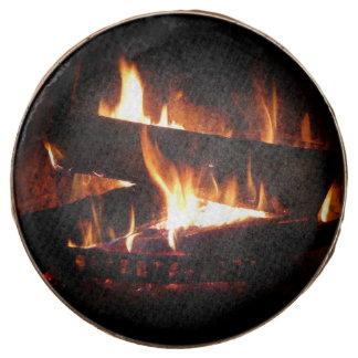Fireplace Warm Winter Scene Photography Chocolate Dipped Oreo