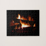 Fireplace Warm Winter Scene Photography Jigsaw Puzzle