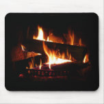 Fireplace Warm Winter Scene Photography Mouse Pad