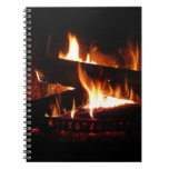 Fireplace Warm Winter Scene Photography Notebook