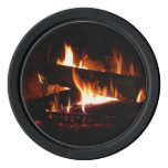 Fireplace Warm Winter Scene Photography Poker Chips Set