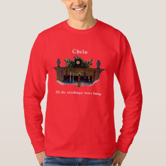 Fireplace with Stockings Hanging Wilcox Smith T-Shirt