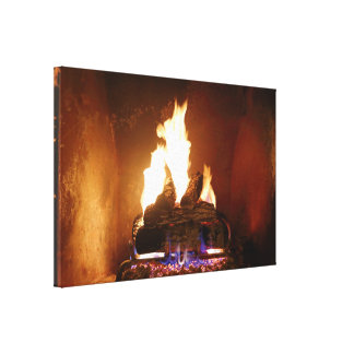 Fireplace Wrapped Canvas