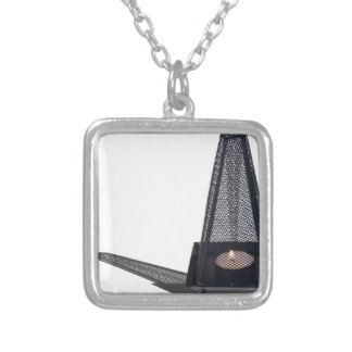 FireplaceGrill070515.png Square Pendant Necklace