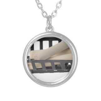 FireplaceGrillAndLogs040515.png Round Pendant Necklace