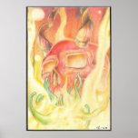 Firery Depths Print