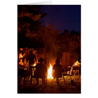 Fires At Night Greeting Cards