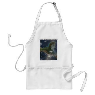 Fires In Central America (Picture Earth Satellite) Adult Apron