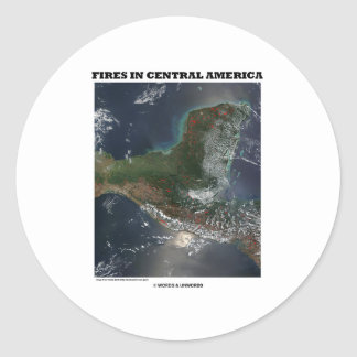 Fires In Central America (Picture Earth Satellite) Sticker