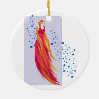 Fires of Creation Double-Sided Ceramic Round Christmas Ornament