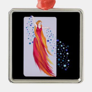 Fires of Creation Square Metal Christmas Ornament