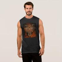 Fires of Life, Sleeveless Mens Dragon Tee-front Sleeveless Shirt