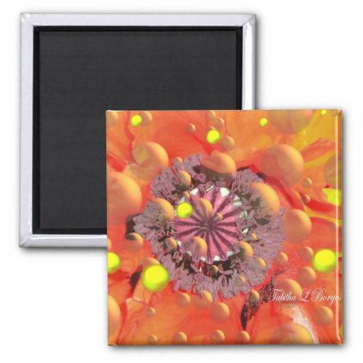 Fires Of Love With In 2 Inch Square Magnet