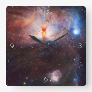 Fires of the Flame Nebula Square Wall Clock