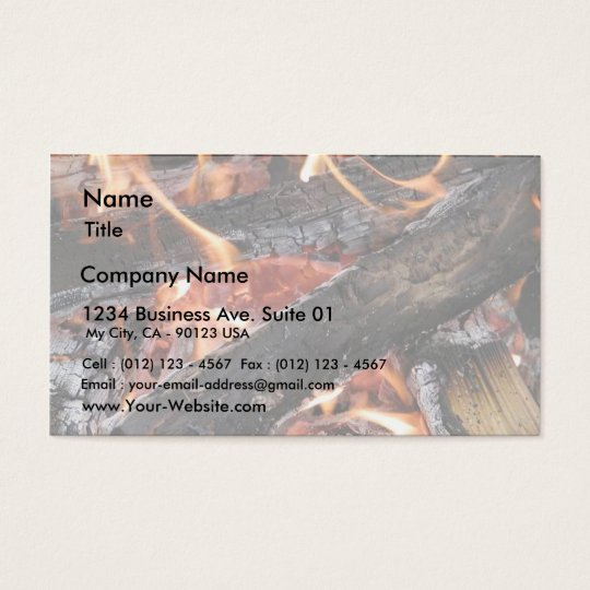 Fires Wood Flames Burning Business Card