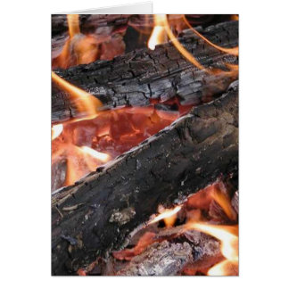 Fires Wood Flames Burning Greeting Card