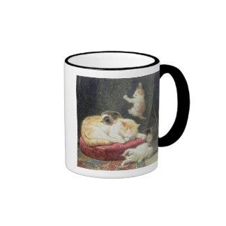 Fireside Bliss (oil on panel) Ringer Mug