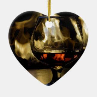Fireside Ceramic Ornament