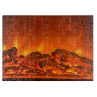 Fireside Glass Cutting Board
