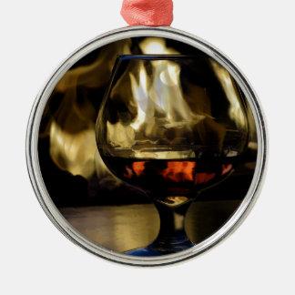 Fireside Metal Ornament