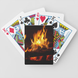 fireside playing card bicycle playing cards
