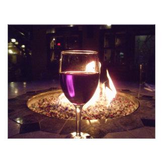 Fireside Red Wine in Glass Scrapbooking Paper Letterhead