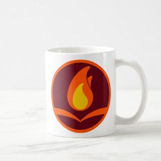 Fireside round logo mug