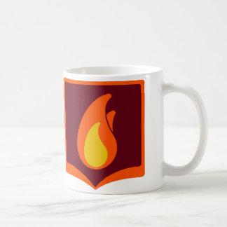 Fireside square logo mug