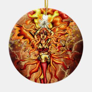 Firesprite Round Ornament
