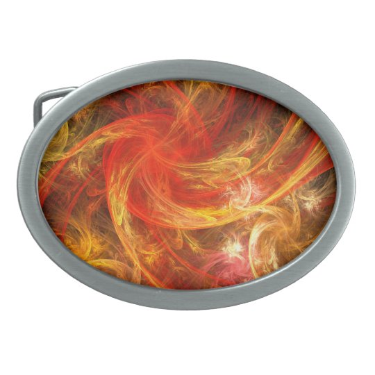 Firestorm Abstract Art Belt Buckle