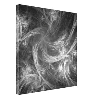 Firestorm Abstract Art Black and White Canvas Print