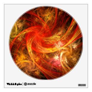 Firestorm Abstract Art Circle Wall Sticker