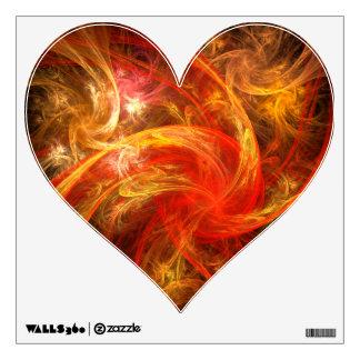 Firestorm Abstract Art Heart Wall Decal